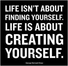 Inspirational Quote of the week, Creative, create yourself